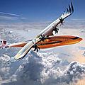 L'avion de ligne conceptuel et futuriste d'airbus