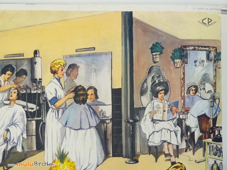 Affiche-CHEZ-LA-COIFFEUSE-5-Rossignol-muluBrok-Vintage