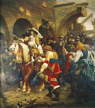 Tableau Le Maréchal de La Ferté Belfort 1654