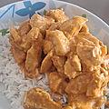 Poulet sauce curry et beurre de cacahuete