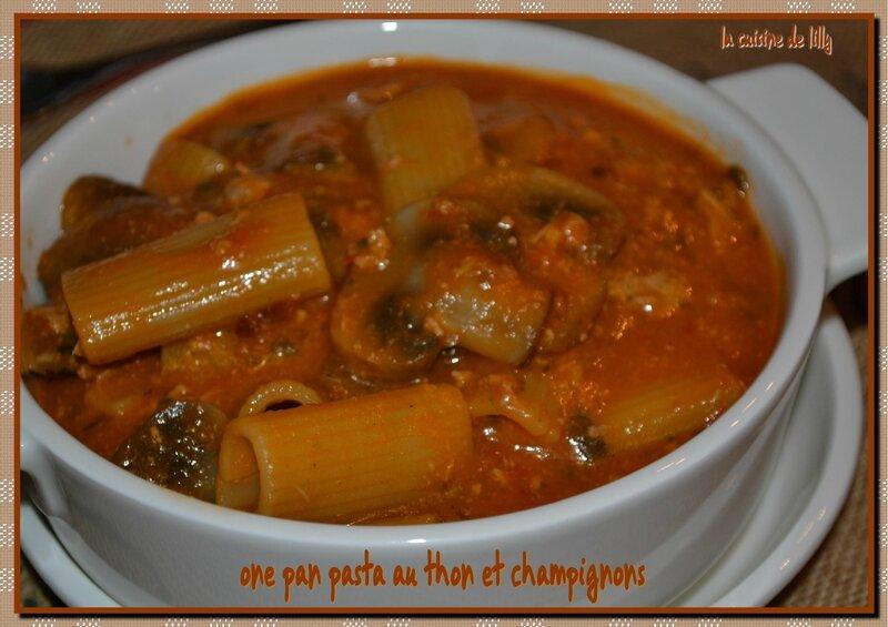 one pan pasta thon-champignons