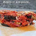 Gratin d'aubergines, courgettes, tomates à la mozzarella