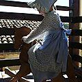 Rachel Farbenmix 5-6ans piqué bleu & fleurs bleues 11
