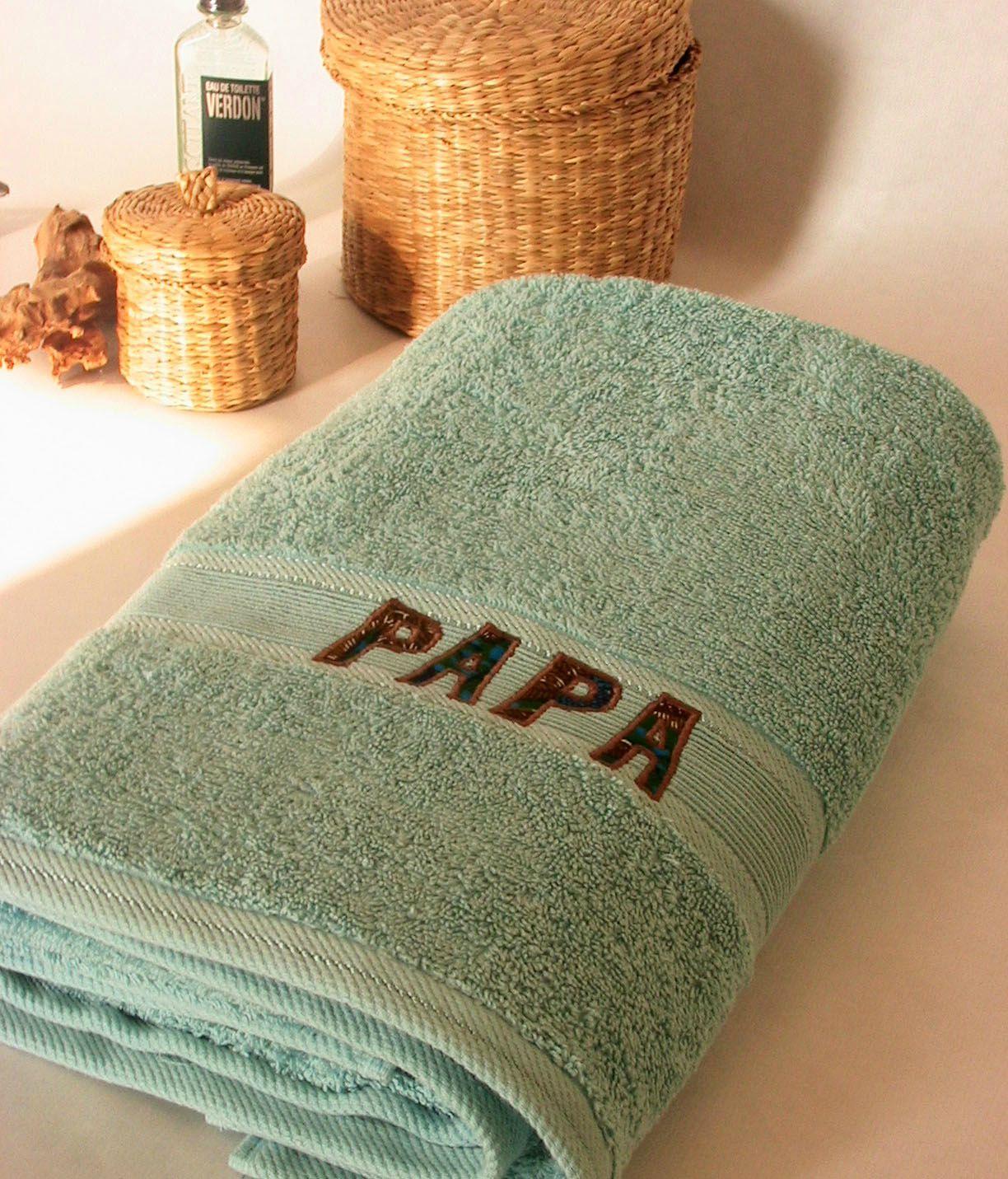 Vue d'ensemble serviette personalisée PAPA
