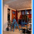 Atelier d' effer lecébé , artiste casque bleu .