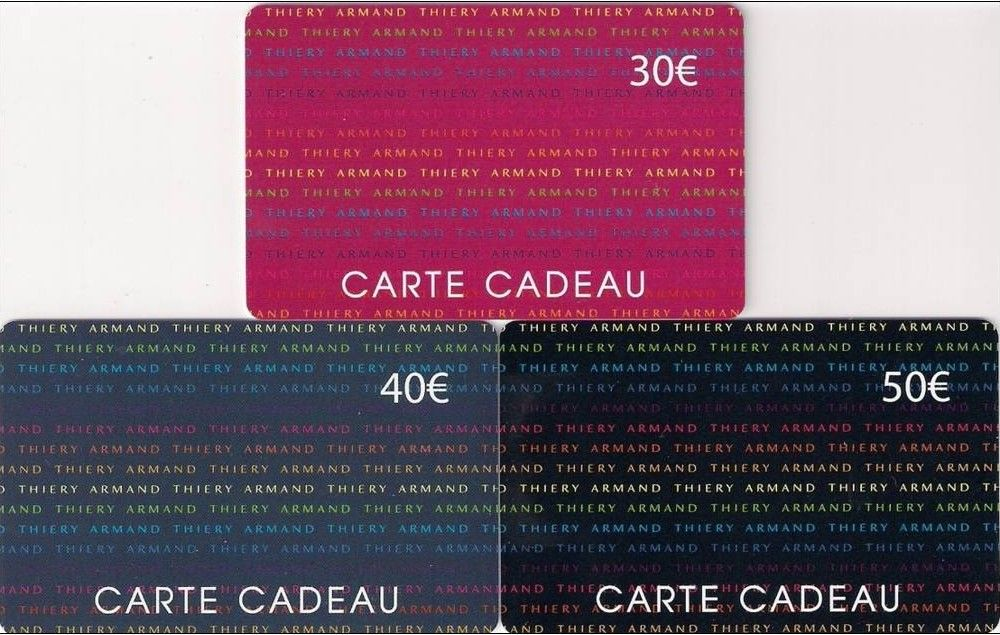 carte cadeau armand thiery