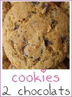 Cookies aux deux chocolats - index