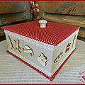 Tuto n°18 : jolie boite en carton recouverte de tissus et dentelles