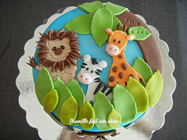 gateau jungle prunillefee