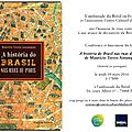 Brésil: lancement du livre a historia do brasil nas ruas de paris