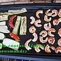 Crevettes à la plancha sauce au zathar