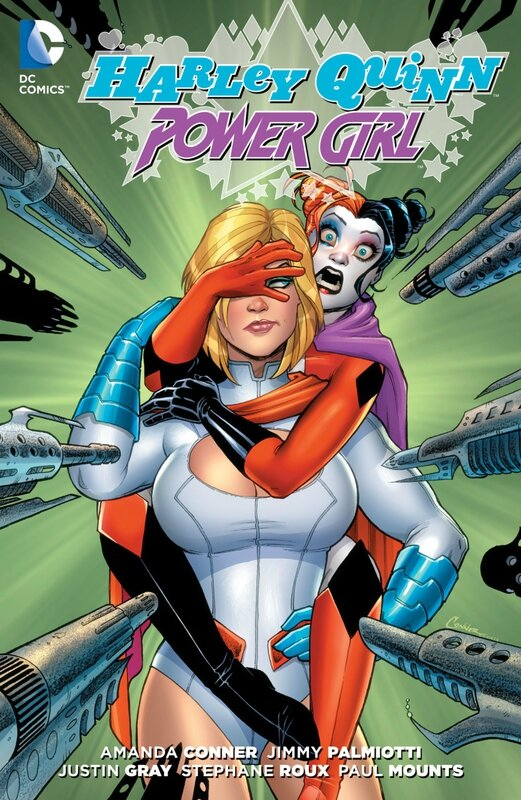 new 52 harley quinn and power girl TP