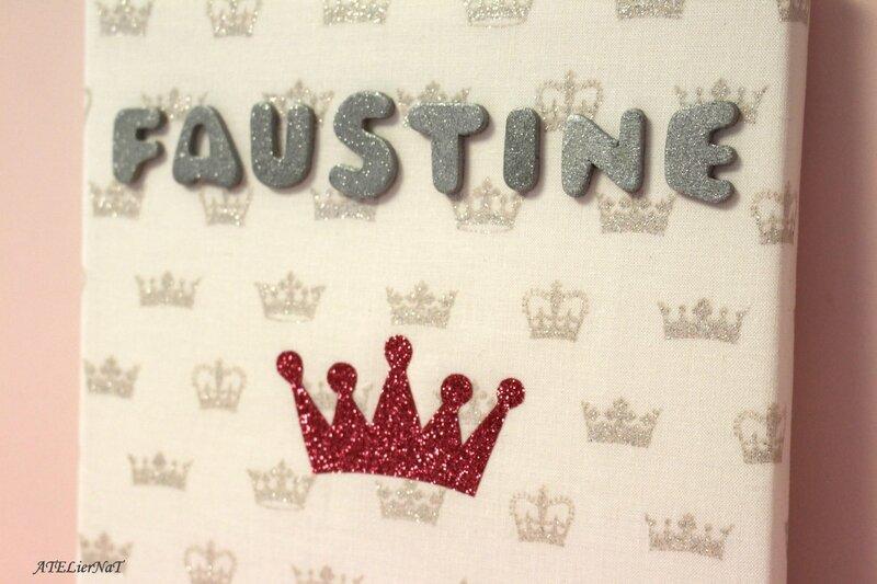 Toile déco personnalisée Faustine