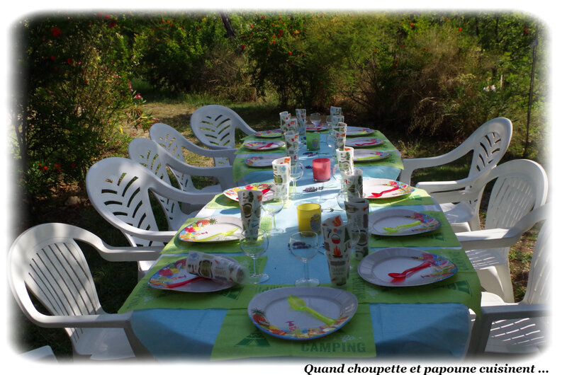 MA TABLE DU CAMPING