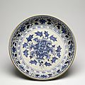 Very large blue-and-white dish. probably chu dau kilns, red river delta, northern vietnam, 1440-1460