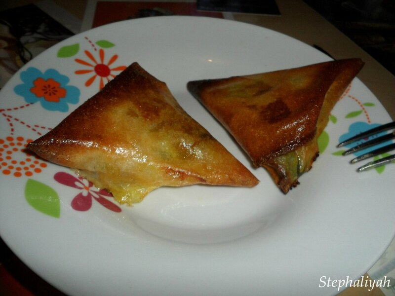 Samoussas bricks courgette oignon mozza -- 4