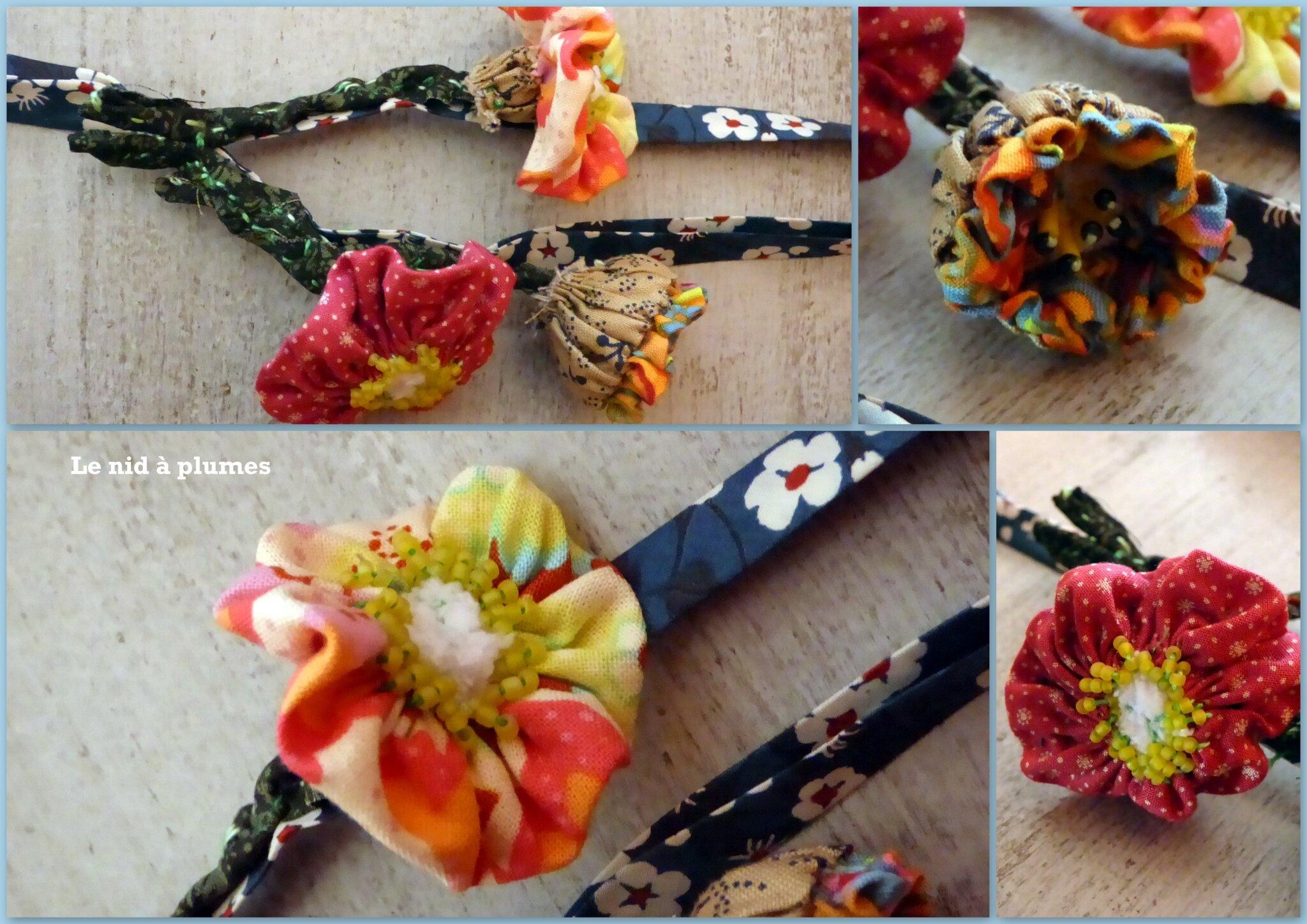 Sautoir fleurs de Printemps