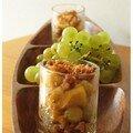 Verrines d'automne aux biscuits amaretti