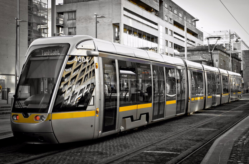 The LUAS (tram of Dublin IE)