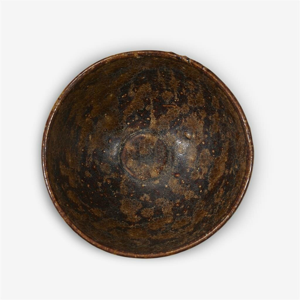 A Chinese 'Jizhou' tortoise-shell glazed tea bowl, Song dynasty (960–1279
