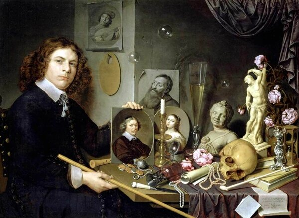 David Bailly (Leiden 1584 - Leiden 1657), Self-Portrait with Van