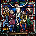La Crucifixion de Jésus devenant ainsi le Christ