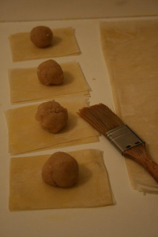 bklawa pyramides avec étapes - passion culinaire - minouchka 3