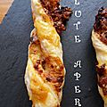 Flutes a la tomate sechee & fromage
