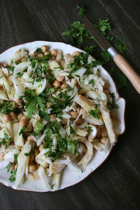 salade de morue et pois chiche à la portugaise - Passion culinaire Minouchka