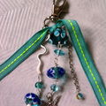 bijou de sac ruban vert