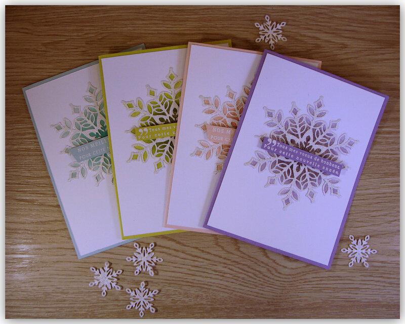 Carte Flocons multicolores 1