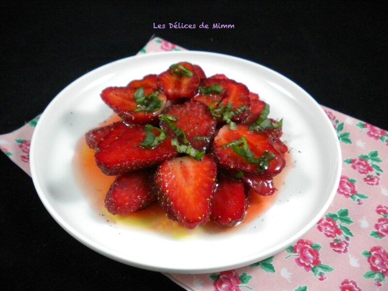 Carpaccio de fraises tout simple