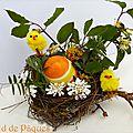 Décoration florale pour pâques