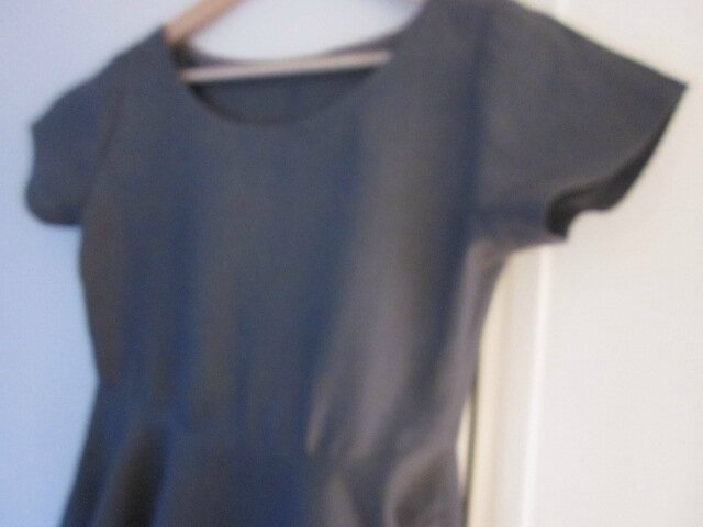 Robe EULALIE en lin gris anthracite - taille 38 (7)