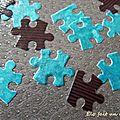 Vide poche turquoise et chocolat