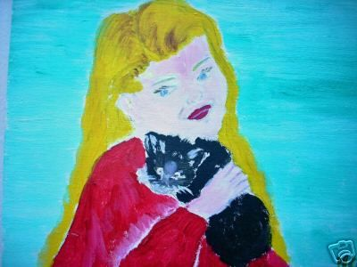 THE LITTLE GIRL AND CAT