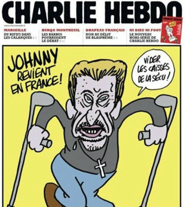 johnny haliday humour securite social impot