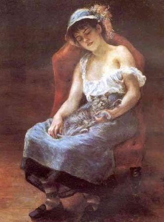 Jeune_fille_endormie___La_femme_au_chat_1880