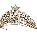 19th century diamond tiara-necklace