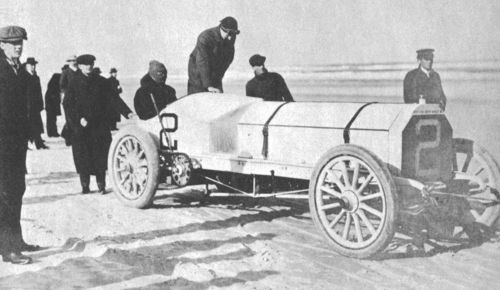 1905 ormond beach - herbert bowden ('flying dutchman', two 60hp mercedes engines in tandem)