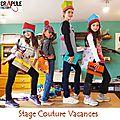 atelier crapule factory 01300 Belley cours et stage de couture débutants dès 7 ans enfant et adultes