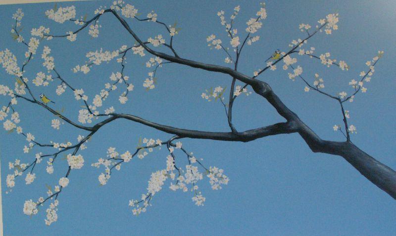 Branche De Cerisier branche de cerisier - photo de décors et trompe -l'oeil - sophie