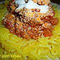 Courge spaghetti à la bolognaise, version tmx