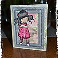 carte petite fille magnolia
