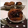 Mini cakes spéculoos croustillants & chocolat noir fondant
