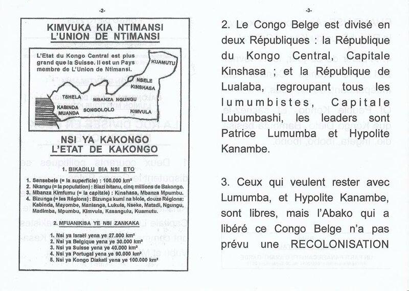 LA RDC DIVISEE EN DEUX REPUBLIQUES b