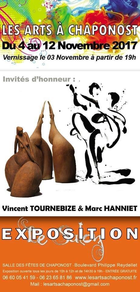 - les Arts à Chaponost du 4 au 12 novembre 2017