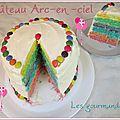 Gâteau arc-en-ciel ou rainbow cake
