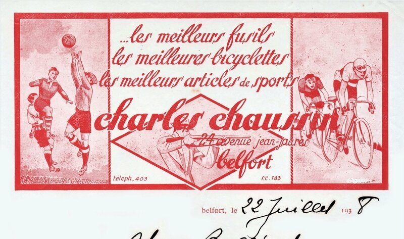 Courrier Charles Chaussin 1938 BF R