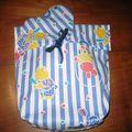 Paquet cadeau en tissu... pièce unique
